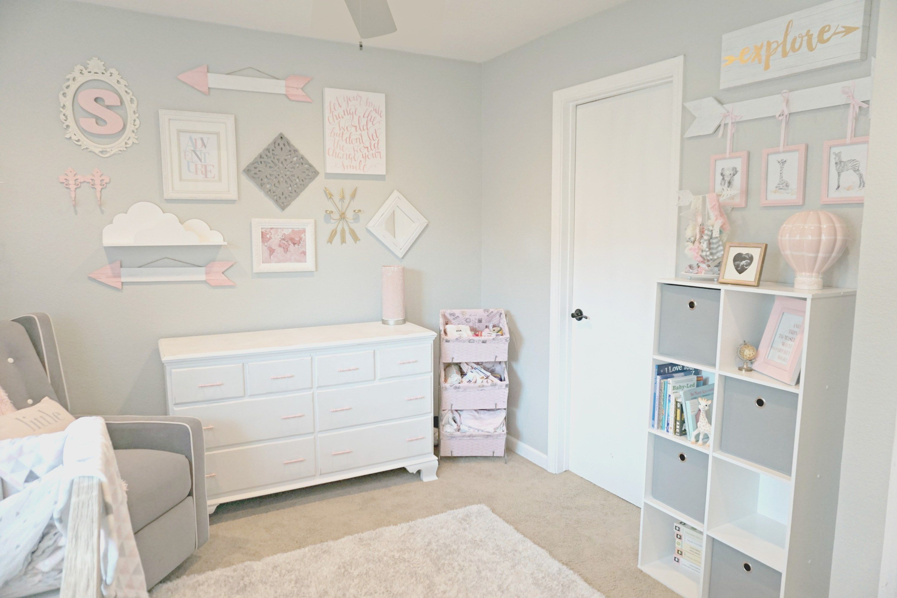 Baby Girl Nursery Travel Adventure Theme Nursery Gray Pink Nursery Baby Girl Nursery Themes Adventure Theme Nursery Travel Theme Nursery