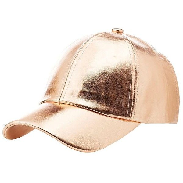 ee88a1ee44f82a Charlotte Russe Faux Leather Baseball Hat ($9.99) ❤ liked on Polyvore  featuring accessories, hats, rose, faux leather baseball hat, baseball cap  hats, ...