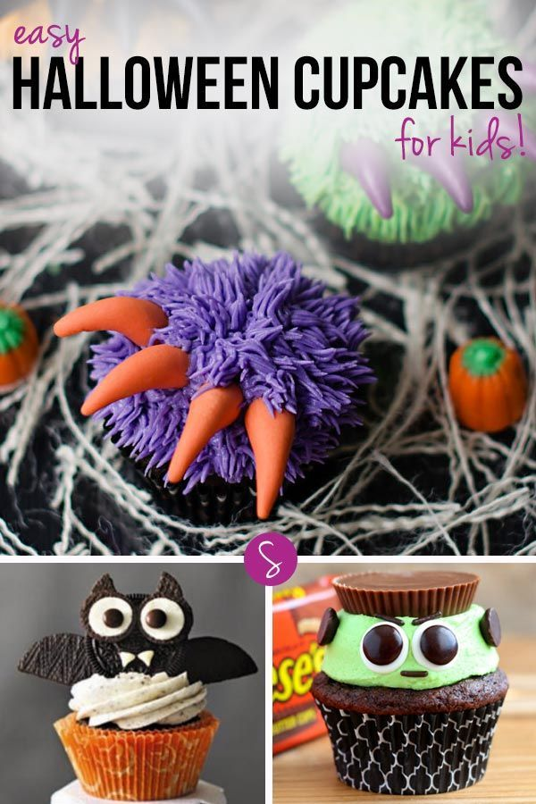 13 Easy Halloween Cupcakes for Kids to Enjoy! Easy halloween - cupcake decorating for halloween