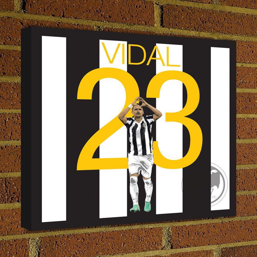 Square Canvas Wrap Soccer Art Print Arturo Vidal Juventus Soccer ...