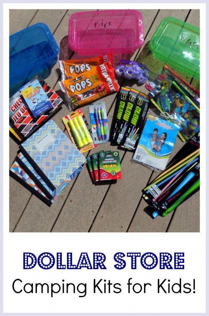 DIY Dollar Store Camping Kits For Kids