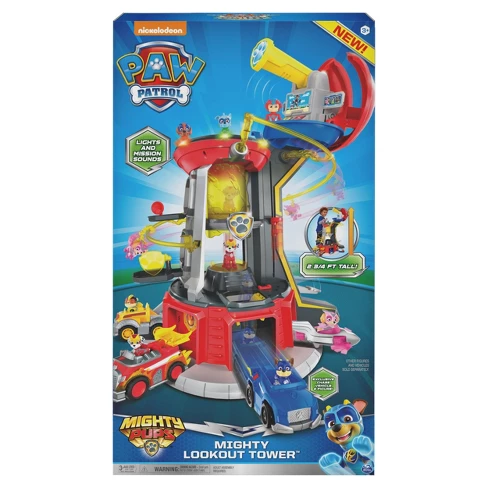 PAW Patrol Super Mighty Pups Lookout Tower with Chase