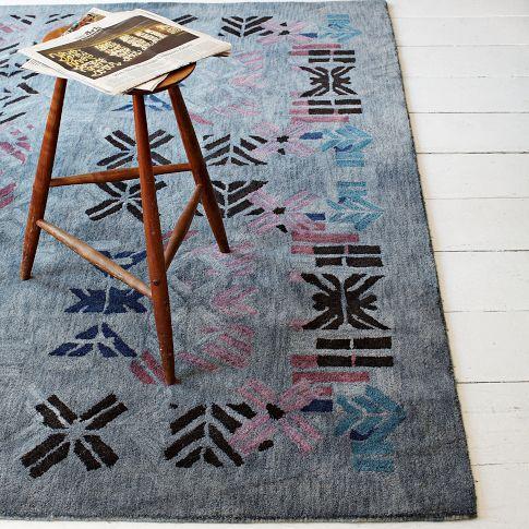 Alyson Fox Stencil Wool Rug West Elm Alfombras Disenos De Unas Diseno De Interiores