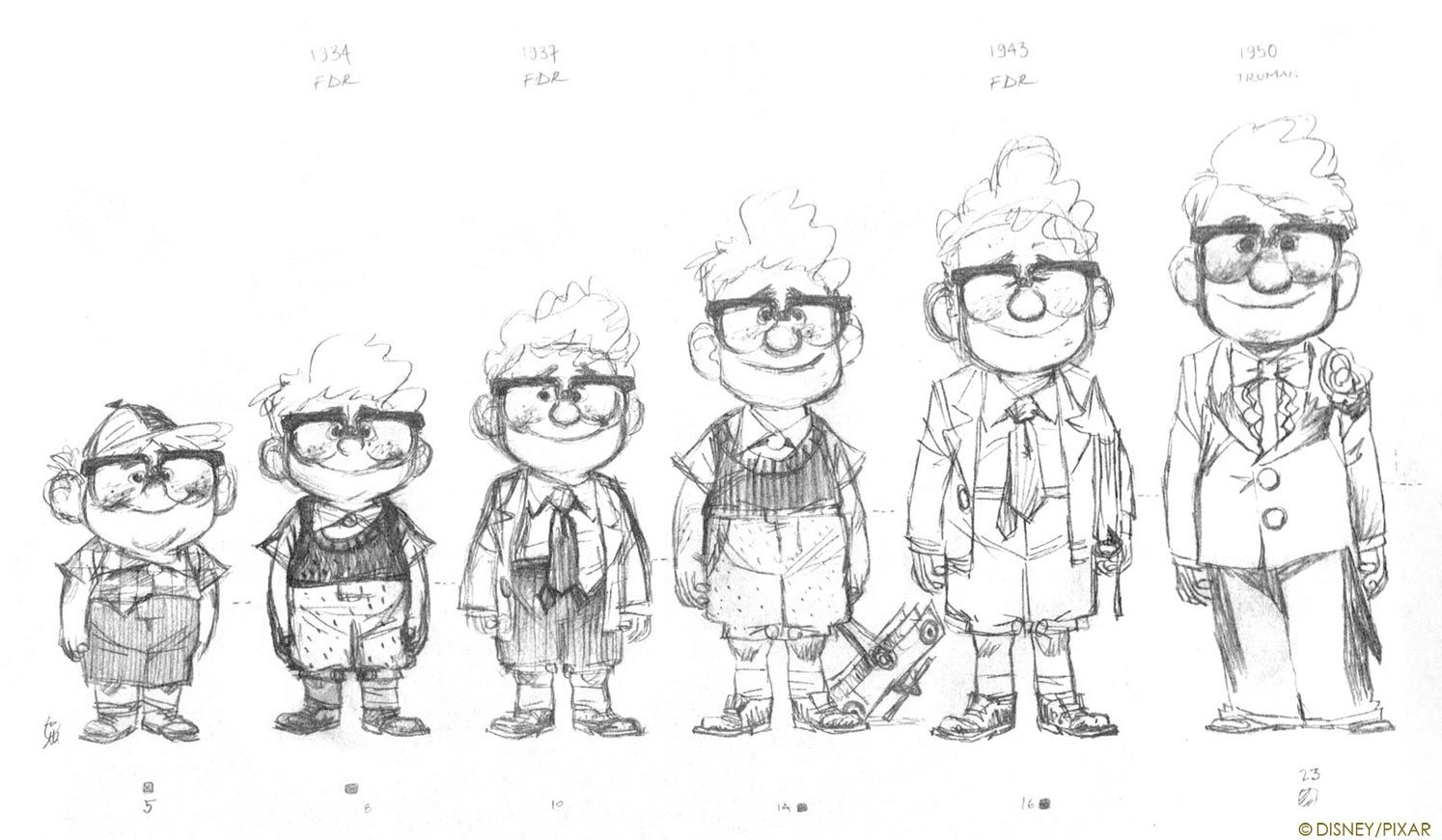 Up (2009) - Character Design
