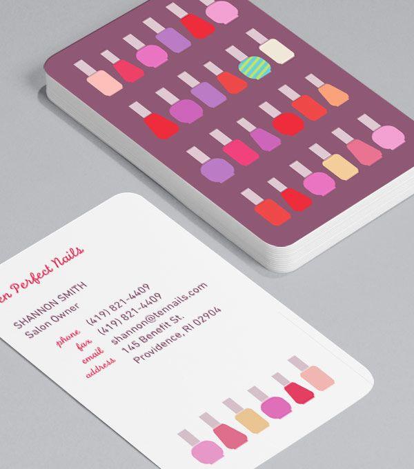 Designvorlagen Für Visitenkarten Durchstöbern Nails