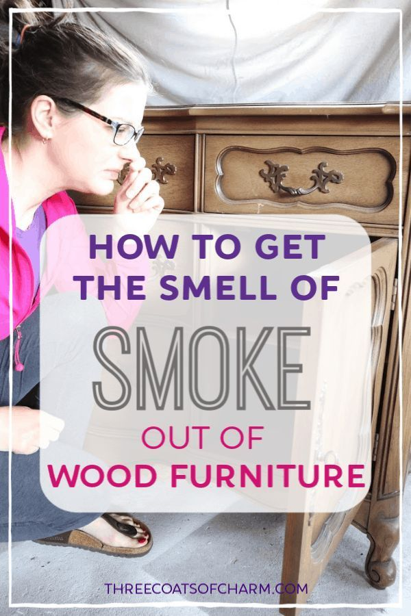 how to get rid of bad smell in wood furniture