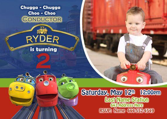 Chuggington Invite Chuggington invitation by JRCreativeDesigns – Chuggington Party Invitations