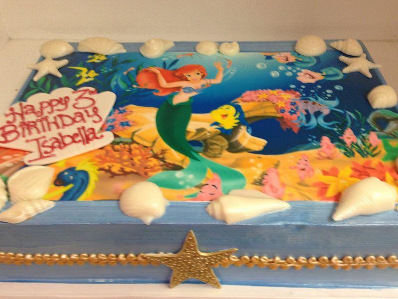 Little mermaid sheet cake 2719 mermaid sheets mermaid
