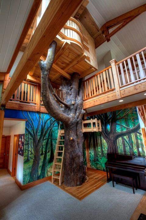 an inside tree house kids area - Kids Treehouse Inside