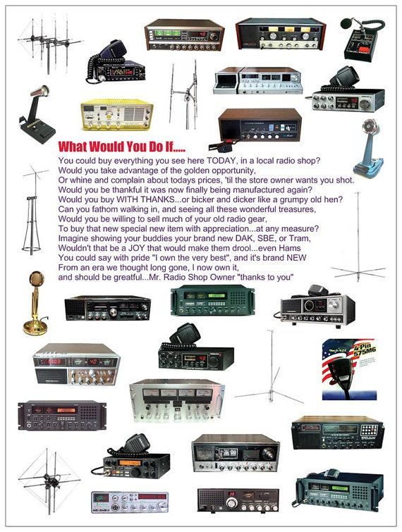 What Would You Do If....... CB Radio Poster 18 x 24 by gewelsngems