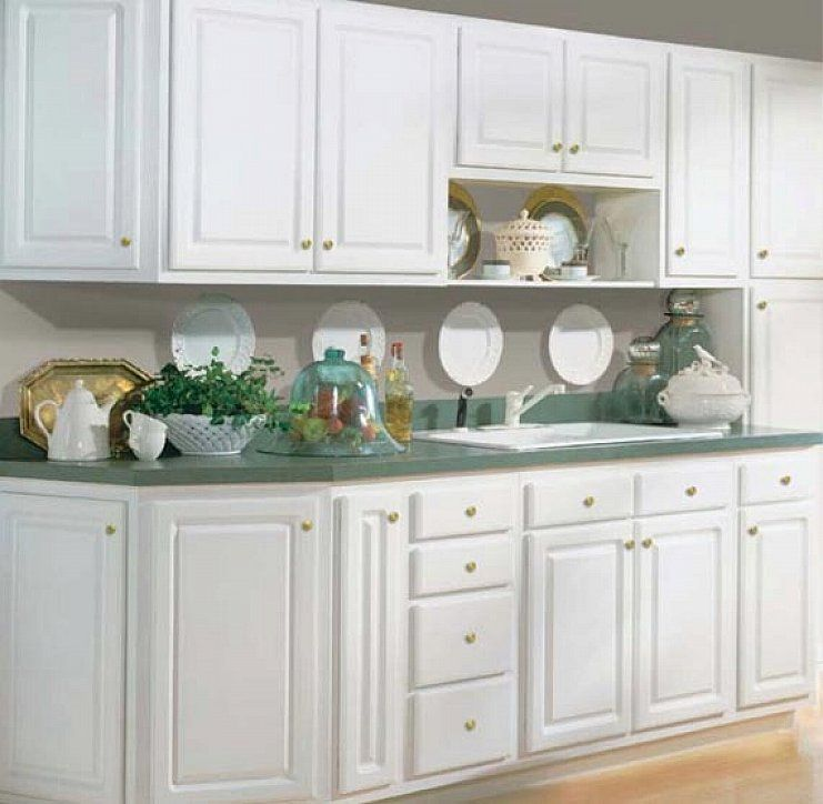 Modern White Kitchen Cabinets with Six Doors Designs kitchen