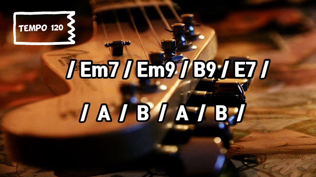 Em Funky Jam (Tempo 120) Backing Track YouTube
