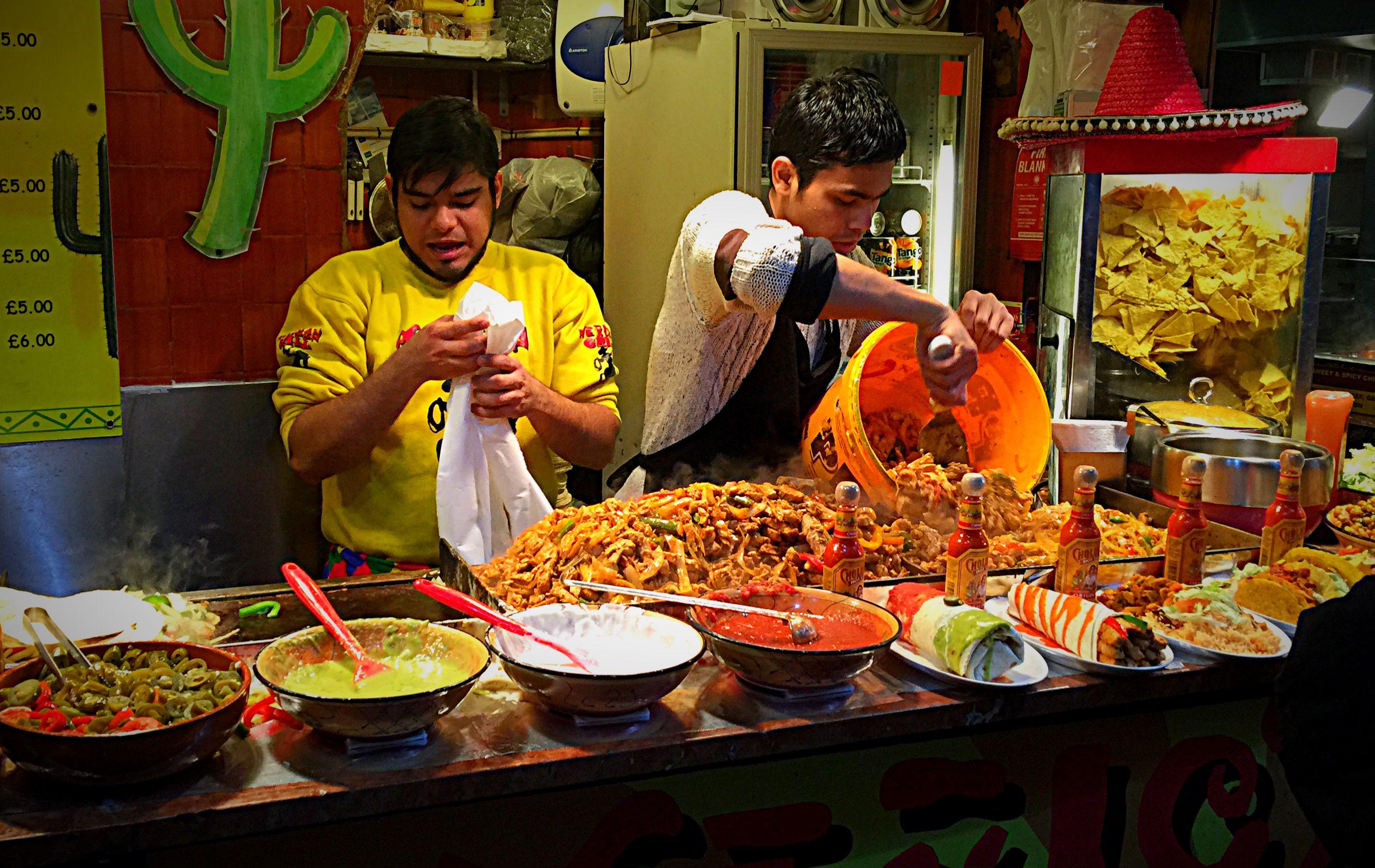Mexican Fajita, Camden Market Street food, January 2015