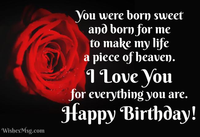 100 Birthday Wishes For Girlfriend Wishesmsg Birthday Wishes For Girlfriend Romantic Birthday Quotes Birthday Quotes For Girlfriend