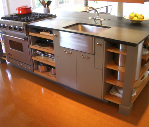 All In One Kitchen Island With Cooker Storage And Sink Kitchen