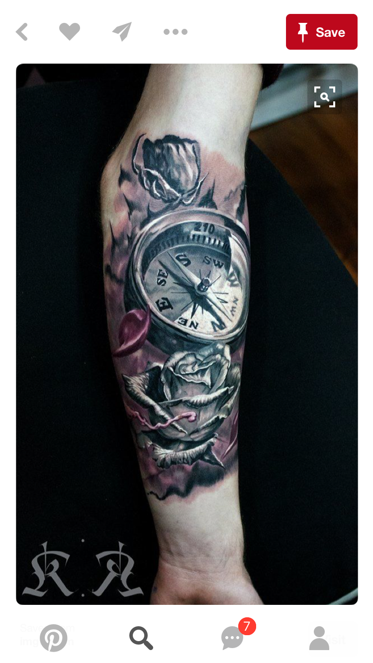 Pin Von Jason Jordan Auf Tattoos Compass Tattoo Tattoos Und
