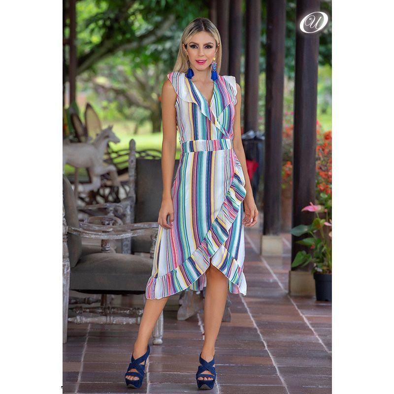 2583e69b45ab Un vestido estilo pareo te hará lucir fresca, elegante y juvenil ...