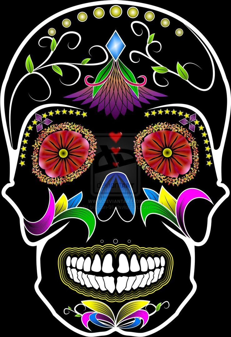 Sugar Skull | carabelas | Pinterest | mexikanische Schädel ...