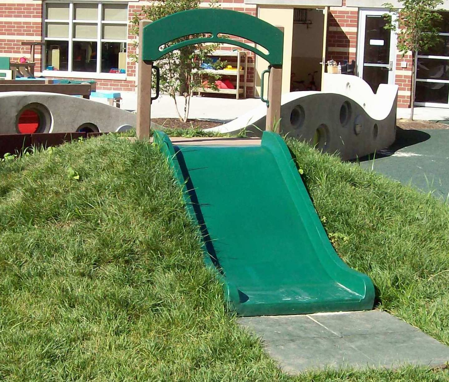 Hill Slide for your natural playground. Wide slides are