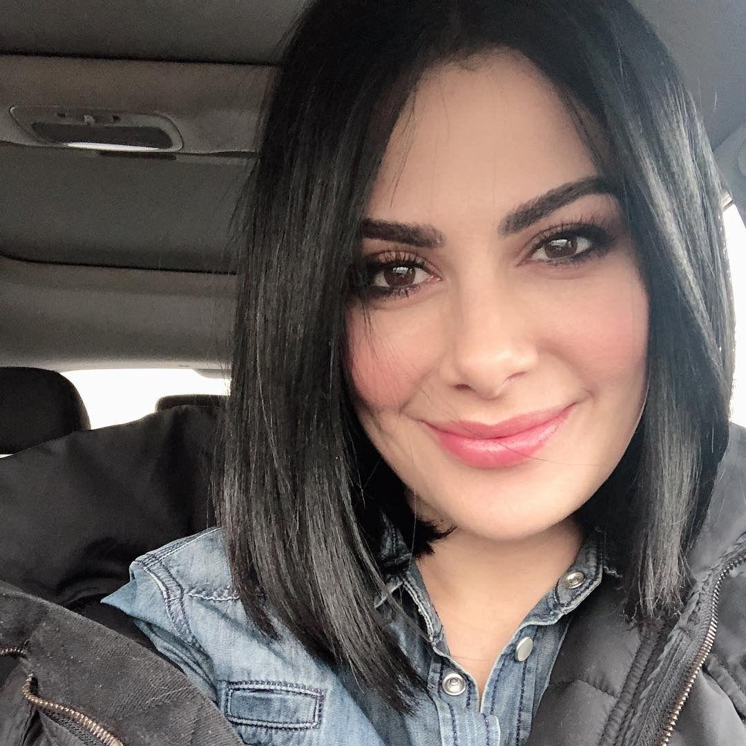 قصات وتسريحات شعر صبا مبارك