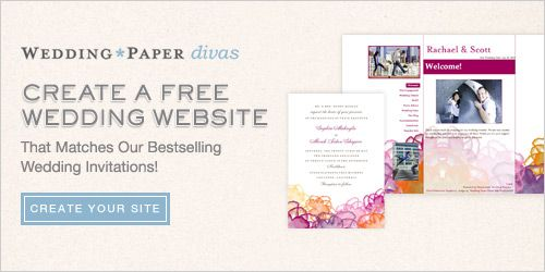 Free Wedding Website From Wedding Paper Divas Free wedding