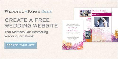 free wedding website from wedding paper divas wedding ideas