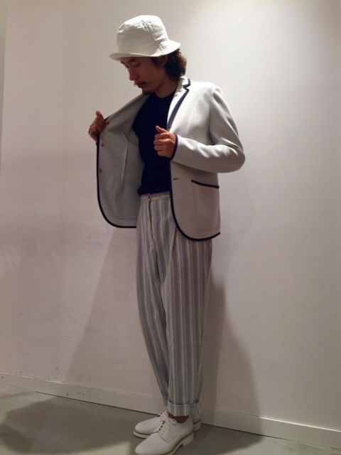 JACKET:SOMEWEAR ELSE:\62,640- CUT&SEW:ITALSTYLE:\6,912-  PANTS:ATELIER ARCHIVIO:\47,304-  SHOES:DOUCAL'S:\49,680- (全て税込価格)