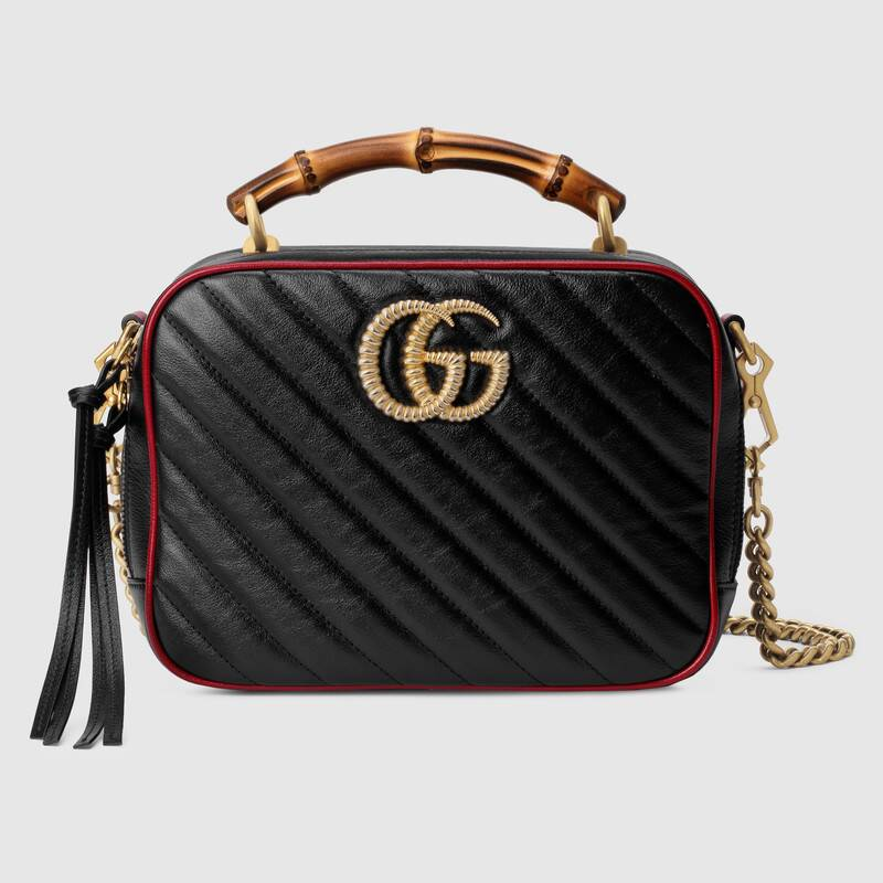Photo of Gucci GG Marmont small shoulder bag with bamboo