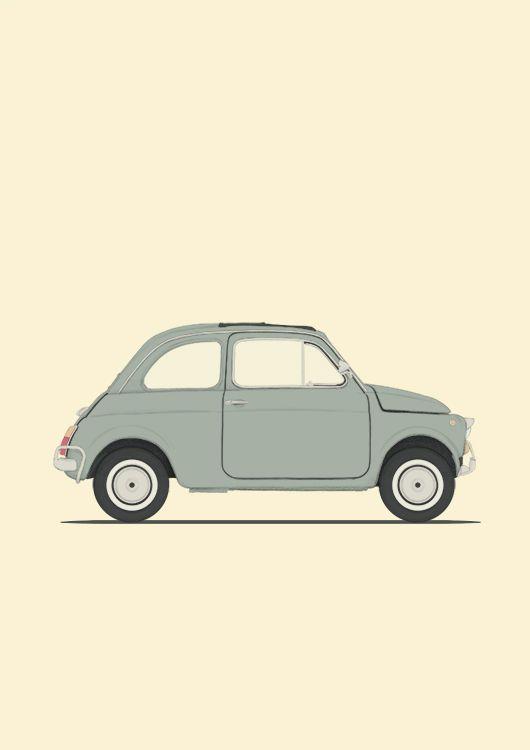 poster fiat 500 dessins voitures avions bateaux anciens pinterest voiture dessin. Black Bedroom Furniture Sets. Home Design Ideas