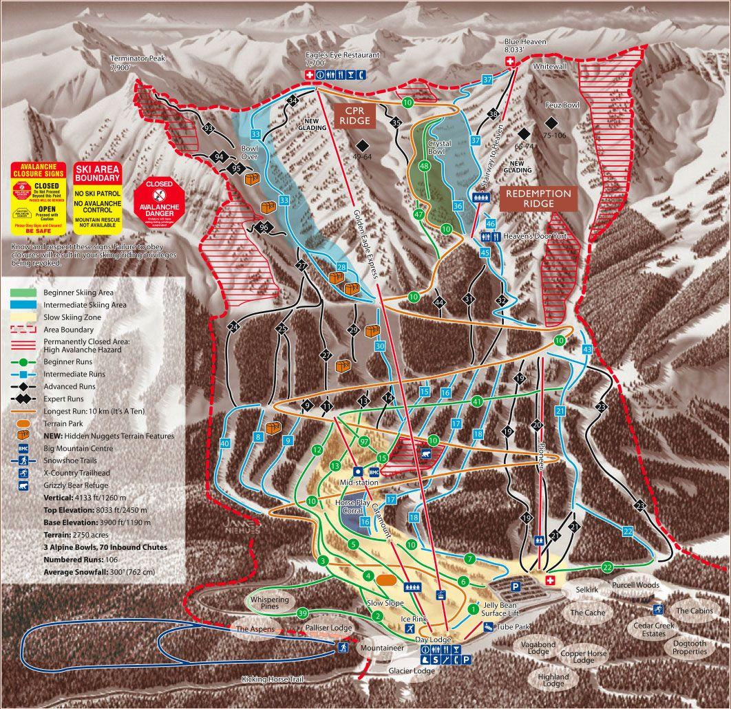 Ski Kicking Horse Mountain Resort Canadian Rockies Western Canada Snowboarding Trip Skiing Ski Trip