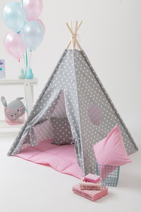 Childrens Teepee Kids Play Tent Tipi for Kids Best ?? WigiWama & Childrens Teepee Set including Poles and Mat for Kids Play Tent ...