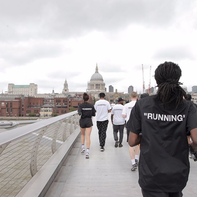 Off White C O Nike Morning Run To The Tate Museum Led By Jme