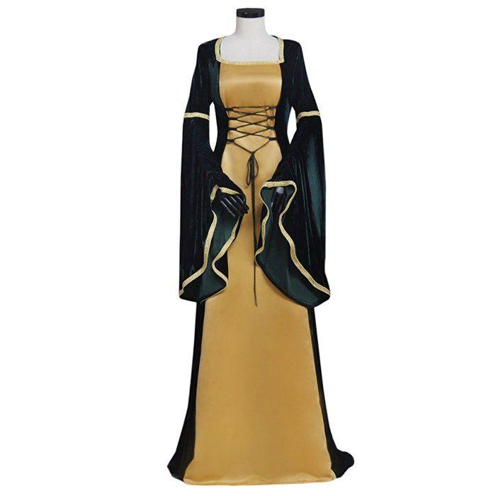 Cosplayitem Damen Mittelalterlichen Kleid Lange Gothic viktorianischen Renaissance Kostüm Cosplay Kleid Trompete Ärmel