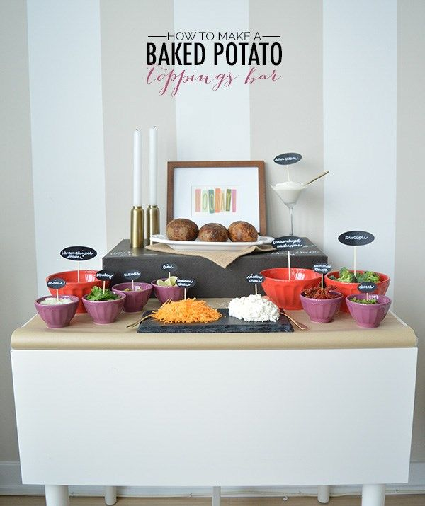 Baked Potato Bar Party