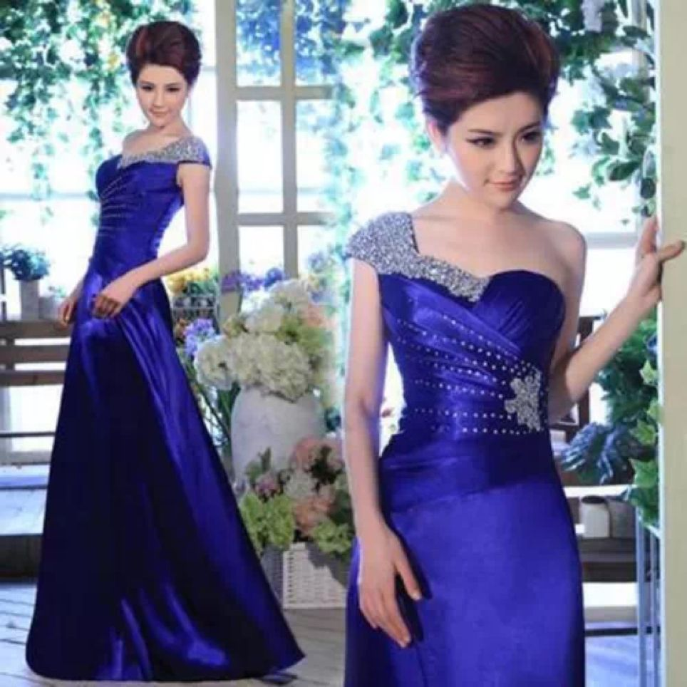 2015 Auction Long Sexy Bridesmaid Cocktail Evening Dress Size 6 8 10 ...