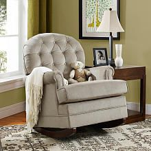 Baby Relax Brielle Button Tufted Rocker - Taupe
