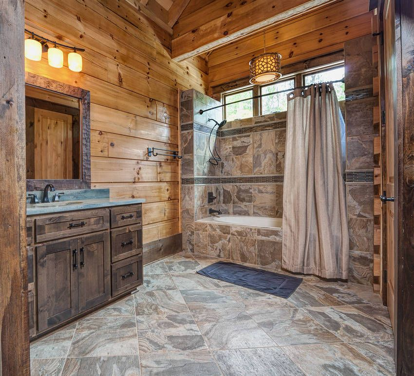 Rustic Cabin Bathroom Bathrooms, Log Cabin Bathroom Ideas