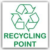Recycling Point Recycle Adhesive Bin Sticker with Recycling Logo SignSkincare