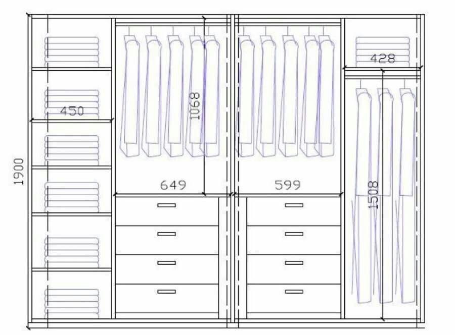 Pin de juanky ruiz en wardrobe pinterest armario - Organizacion armarios ...