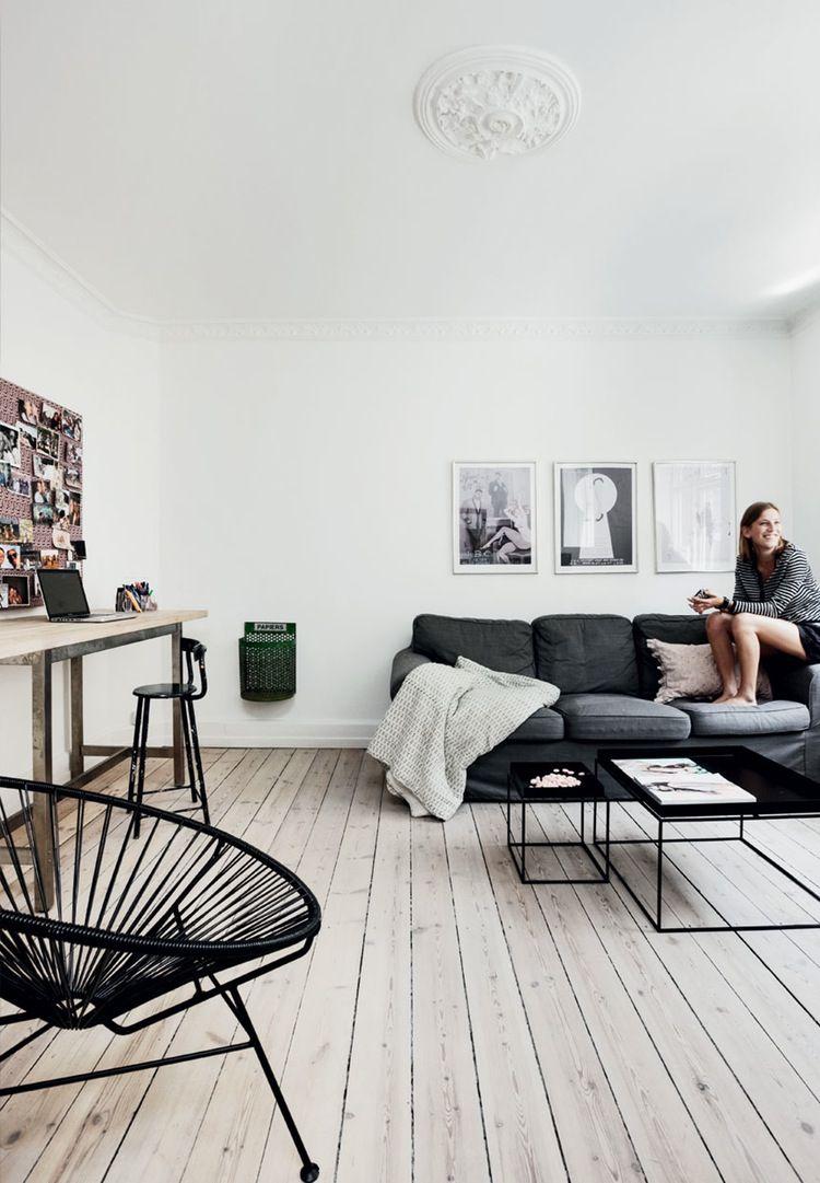 white room vs dark furniture | Contrast | Pinterest | Dark furniture ...