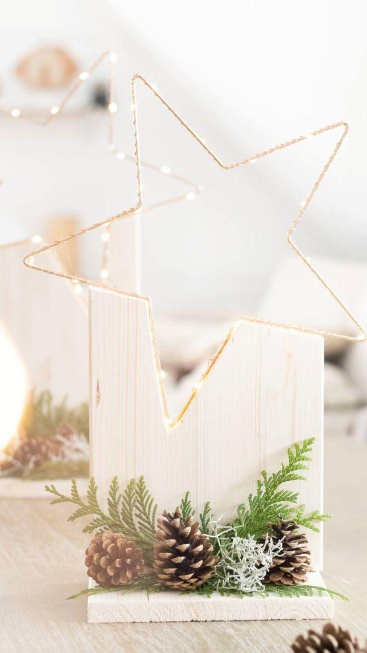 Leuchtende Sternstunde! Weihnachtliche DIY-Dekoration aus Holz