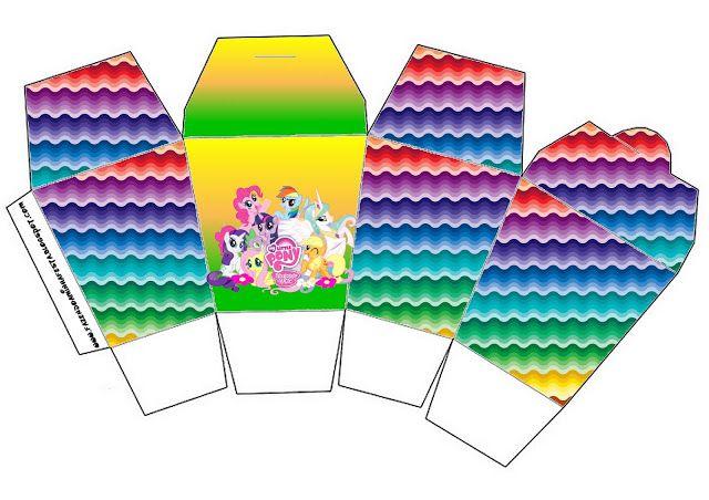 Cajitas imprimibles de My Little Pony.   Ideas y material gratis para fiestas y celebraciones Oh My Fiesta!
