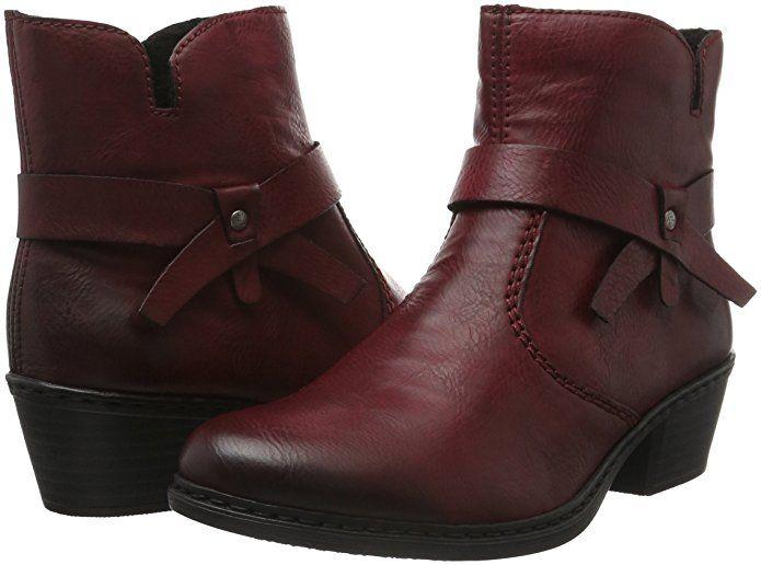RIEKER STIEFELETTEN STIEFEL Boots Damenschuhe schwarz Gr.36