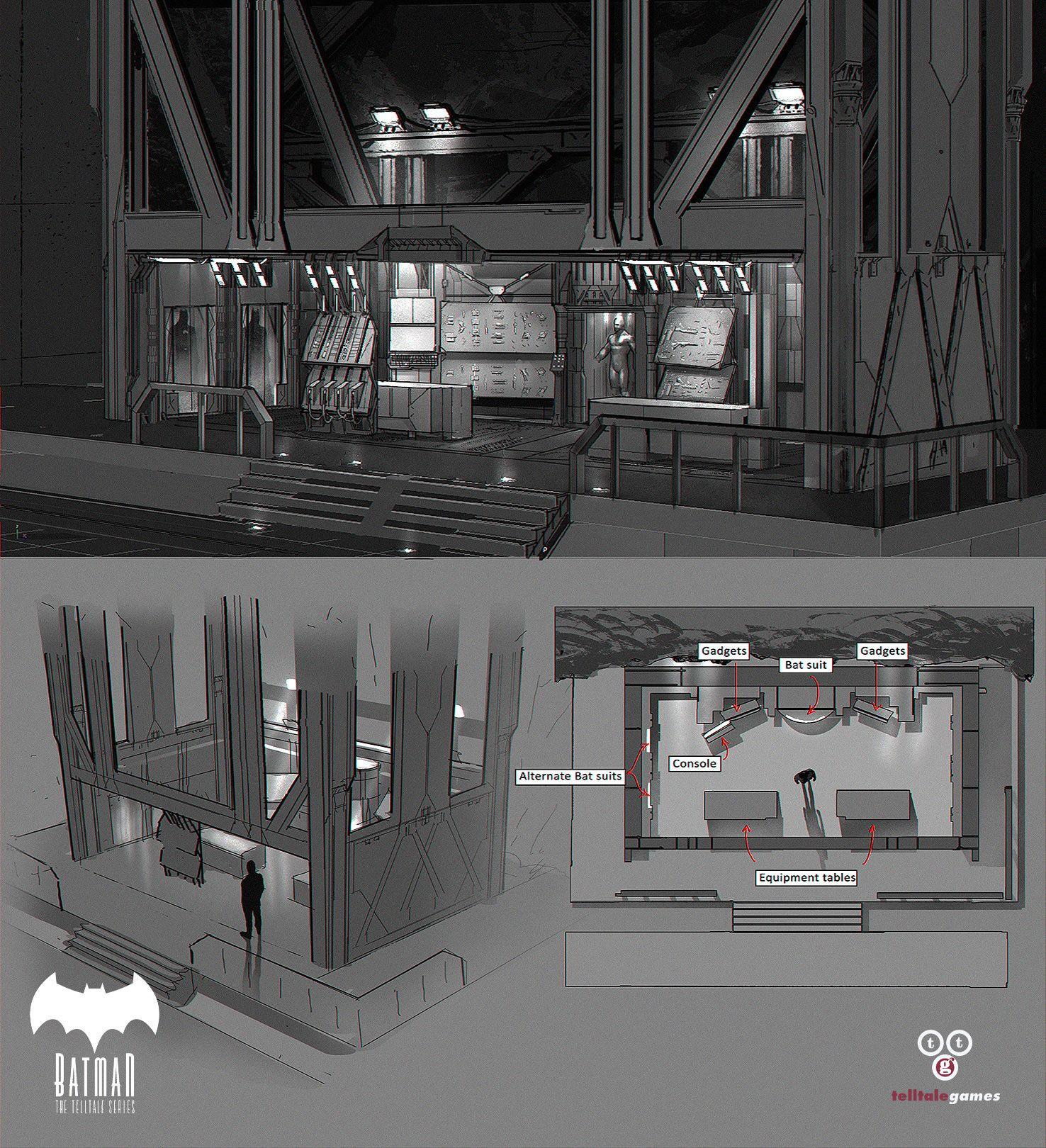 ArtStation - The Batcave & Wayne Manor!, Michael Broussard ...