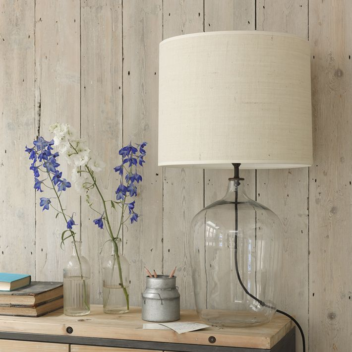 Flagon glass lamps come in two sizes living room table - What size table lamp for living room ...