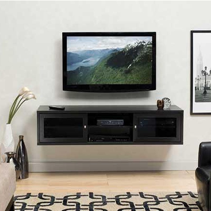 To Float Over Base Board Heating: Sanus Java Series Dual Purpose Lowboy TV  Stand