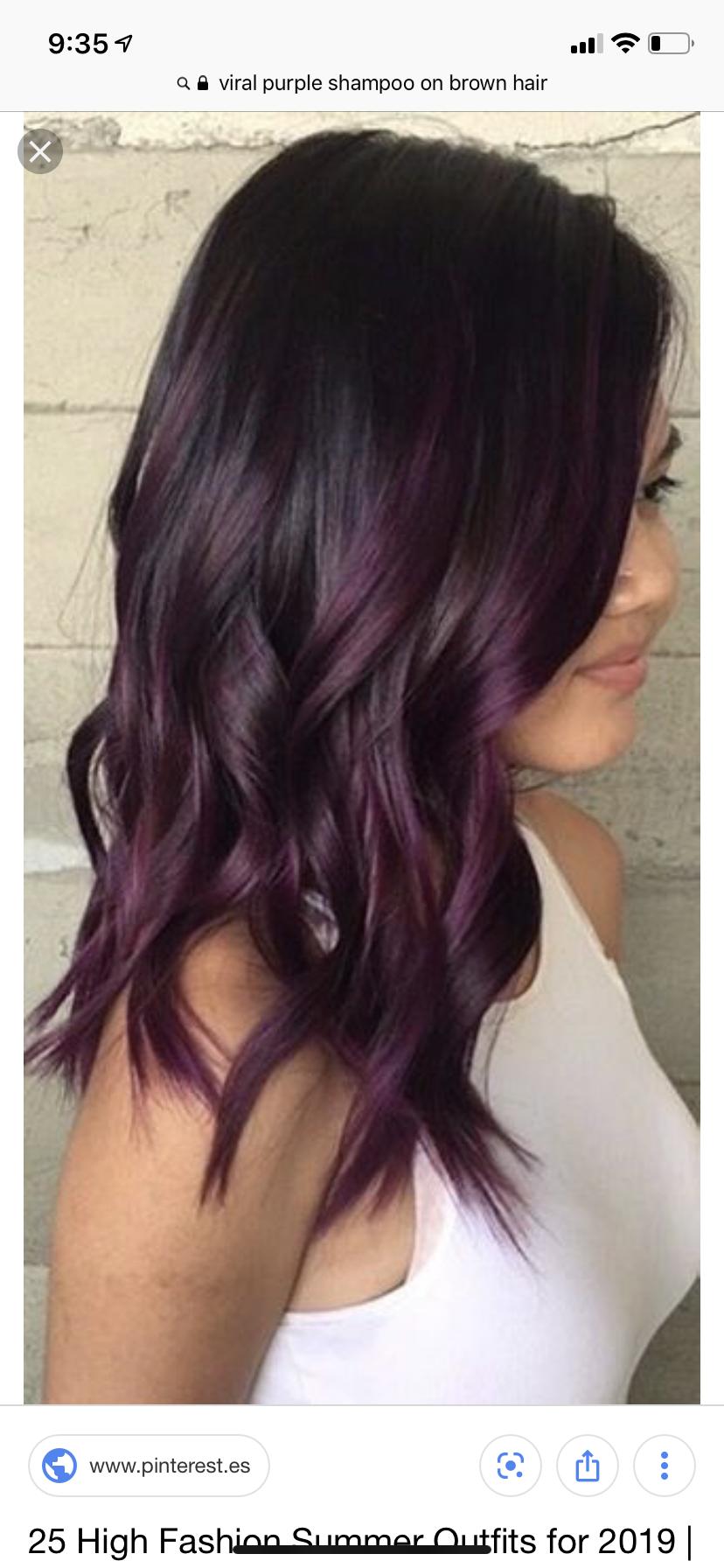 Haarfarbe dunkel lila Make