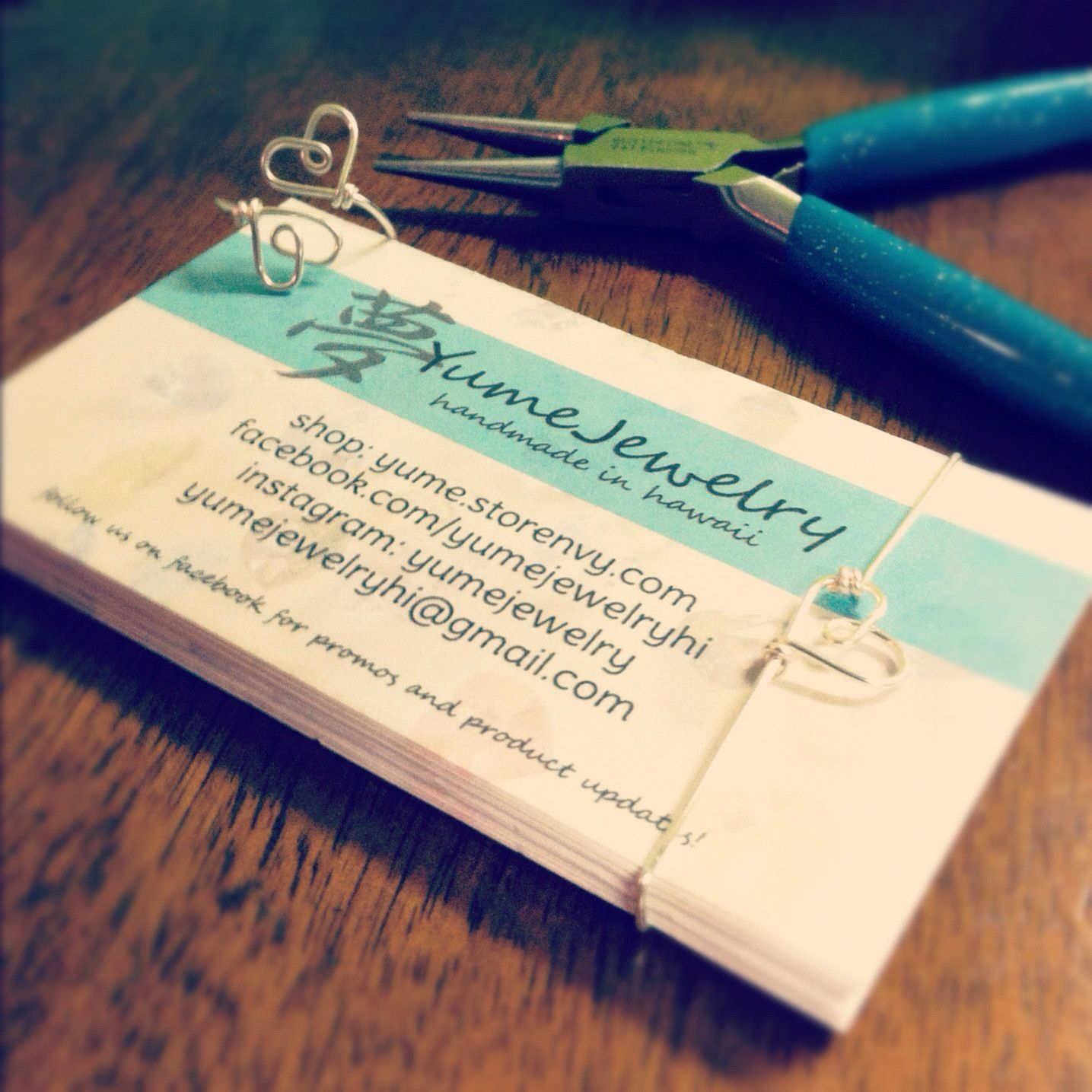 YumeJewelry\'s new business cards! Check out our handmade jewelry ...