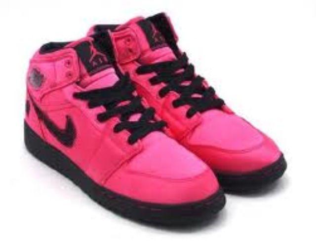 2c2e2ee6ff67b7 jordans hot pink and black
