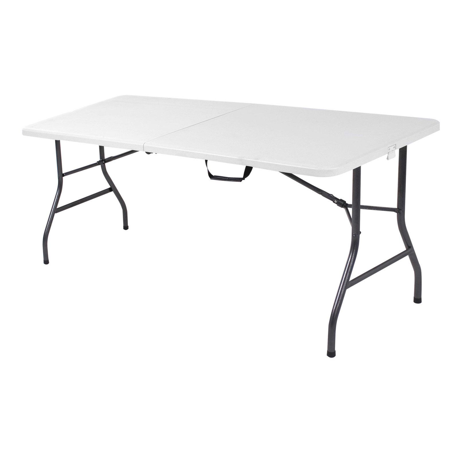 Cosco 6 Ft Centerfold Blow Molded Folding Table White Speckle Folding Table Table